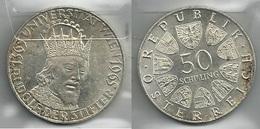 AUSTRIA 1965 - Rudolf DER STIFTER - 50 Schilling SPL / FDC - Argento / Argent / Silver - Confezione In Bustina - Austria