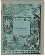 Cahier D'écolier Ancien, Les Merveilles De La Science - Cinématographie Sous-marine - 3 Scans - Buvards, Protège-cahiers Illustrés