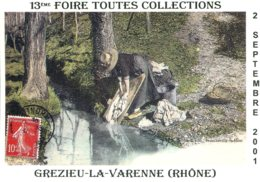 69 - Grezieu La Varenne : 13éme Foire Toutes Collections - 2 Septembre 2001 - Tirage 1500 Ex. - Bourses & Salons De Collections