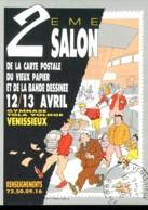 69 - Vénissieux : 2éme Salon De La Carte Postale...- 12/13 Avril 1986 - Dessin De Dirat/Nemo - Bourses & Salons De Collections