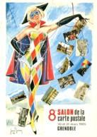 38 - Grenoble : 8éme Salon De La Carte Postale...- 130 Et 31 Mars 1985 - Dessin De Jean Brian - Bourses & Salons De Collections