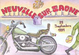 69 - Neuville Sur Saône : 7éme Salon De La Carte Postale - 29 Septembre 1991 - Dessin Porcherot - Bourses & Salons De Collections