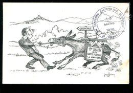 38 - Grenoble : 1er Salon De La Carte Postale - 4 Et 5 Mars 1978 - Dessin Jean Brian (âne) - Bourses & Salons De Collections
