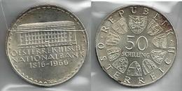 AUSTRIA 1966 - National BANK - 50 Schilling SPL / FDC - Argento / Argent / Silver - Confezione In Bustina - Austria