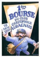 13 - Roquevaire : 1ère Bourse Du Club Cartophile Aubagnais - 16 Mai 1993 - Dessin Christian Coulomb - Bourses & Salons De Collections