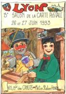 69 - Lyon : 3éme Salon De La Carte Postale - 26 Et 27 Juin 1993 - Dessin P.Brocard - Bourses & Salons De Collections