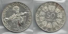 AUSTRIA 1967 - DONAUWALZER - 50 Schilling SPL / FDC - Argento / Argent / Silver - Confezione In Bustina - Austria