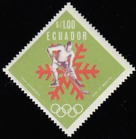 ECUADOR - Scott #755A Grenoble '66 Olympic Games, Ice Hockey / Mint NH Stamp - Winter 1968: Grenoble