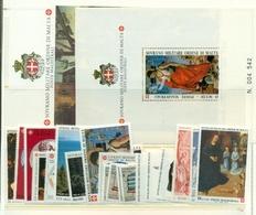 SMOM - ANNATA COMPLETA 1994 - 20 VALORI + 2 FGL  - PERFETTI - Malte (Ordre De)