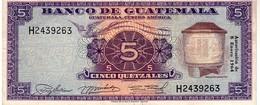 Guatemala P.53  5 Queztal 1964 Xf - Guatemala