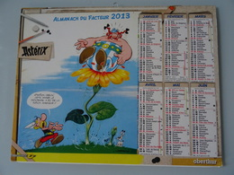 Almanach Du Facteur 2013   Recto   Asterix Attention Obelix      Verso  Asterix - Calendari