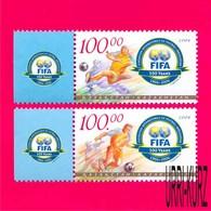 KAZAKHSTAN 2004 Sports Football Soccer Centenary Of FIFA 2v Sc458-459 Mi468-469 MNH - Kazakhstan