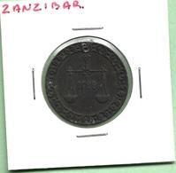 "ZANZIBAR  1  PYSA  1892  """" BARGHASH IBN SA'ID"""" - Coins"