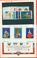 SMOM - ANNATA COMPLETA 1986 - 23 VALORI + 2 FGL  - PERFETTI - Malte (Ordre De)