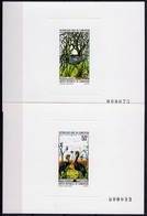 Camerun 1977, Birds, Ostrich, Crowned Crown, 2Deluxe Block - Struisvogels