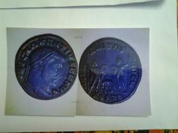 Follis De Maxence Tête à Dr Rv / Les Dioscures Avec La Louve Allaitant Remus Et Romulus - 7. L'Empire Chrétien (307 à 363)