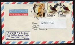 Sri Lanka 1987  MiNr. 543, 515 (2)  Brief / Cover   In Die BRD - Sri Lanka (Ceylon) (1948-...)