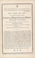 E.H. Ludovicus Michael Carolus DHANIS - Pastoor-deken Van Wolvertem - Décès