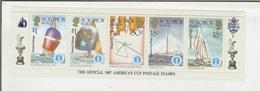 Isole Salomone, Solomon Island 1987: America's Cup Postage Stamps. Foglietto Coppa America N.7 (Vela) - Isole Salomone (1978-...)