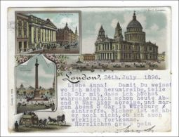 ENGLAND - Postcard With Views, London May 24, 1896 To Germany - 008 - 1840-1901 (Regina Victoria)