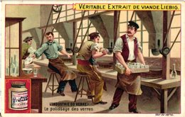 0652  Liebig 6 Cards  C1900- The Glass Industry-l'Industrie Du Verre-Polissage-Verres Pour L'Horlogerie-Soufflage-Vitres - Liebig