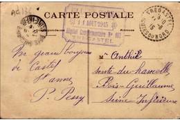 "Cachet ""Hopital Complémentaire N° 102 Trégastel 1915"" Frappe Superbe Cp Perros Guirec - WW I"