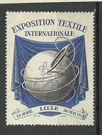 FRANKREICH France 1951 Exposition Textile Internationale Lille Advertising Vignette (*) - Advertising