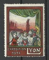 FRANCE 1914 Vignette Exhibition Lyon Advertising Stamp MNH - Childhood & Youth