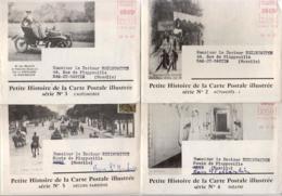 """Lettre Et Dépliant PUB. """"""""petite Histoire De La Carte Postale Illustrée"""""""" Des Labo. Fournier - 1958  LOT DE 7POCHETTES - Advertising"""