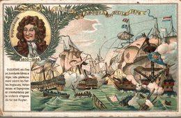 CHROMO CHICOREE A LA MENAGERE DUROYON & RAMETTE CAMBRAI  COMBAT D'AGOSTA EN SICILE 1676 - Otros