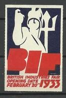 Great Britain 1933 Advertising Stamp British Industries Fair - Cinderellas