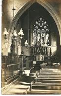 REAL PHOTOGRAPHIC POSTCARD ALL SAINTS CHURCH INTERIOR - SOUTH CAVE - WITH BROUGH R.S.O. RAILWAY POSTMARK - England