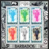 "Barbados.  1980 Postman - International Stamp Exhibition ""London 1980"". MNH - Barbados (1966-...)"