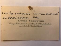 CDV De Louis Scheyven Ministre De Sa Majesté Le Roi Des Belges - Autographe - Cartes De Visite