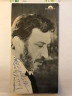 Dedicace Et Autographe De L'artiste Philippe Clay Sur Carte Polydor - Chanteur - Autografi