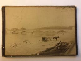 Photo Cartonnée De DAX - Pont Et Port Aux Bois - Vers 1900 - Places