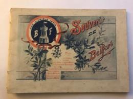 Dépliant Touristique Contenant 10 Photos De BELFORT Vers 1900 Avec Un Explicatif Historique à La Fin Du Fascicule - Rare - Tourism Brochures