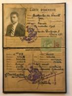 Carte D'identité - Commissariat De Police De Vannes En 1923 - Jean Bailhache De Wault + Timbre Fiscal 4 Francs - Vieux Papiers