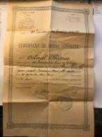 Certificat De Bonne Conduite Du Conducteur Bailhache Du 19e Escadron Du Train à Paris En 1927 - Colonel Chapuis - Manuskripte