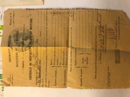 Certificat Preparation Militaire Du Conducteur Jean Bailhache à Paris En 1925 - Colonel Velle - Manuscrits