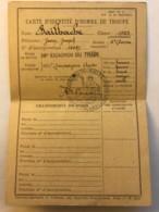 Carte D'identité D'homme De Troupe - Jean Bailhache Du 19e Escadron Du Train Des Equipages - 101e Cie Auto En 1923 - Manuscrits
