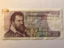 Billet De 100 Francs De 1972 - [ 2] 1831-... : Royaume De Belgique