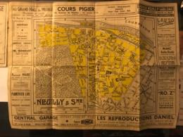 Plan De Neuilly Sur Seine Et Du Métro - Société Commerciale Automobile CITROEN - Europe