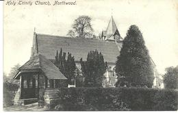 HOLY TRINITY CHURCH - NORTHWOOD - MIDDLESEX WITH NORTHWOOD R.S.O. RAILWAY POSTMARK - Middlesex