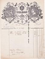 Facture De 1857 - Maison Tilman - Coiffure, Parures Et Fleurs De Modes Breveté- Paris . - France