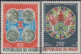 Niger 282-283 (complete Issue) Unmounted Mint / Never Hinged 1971 Year Against Racial Discrimination - Niger (1960-...)