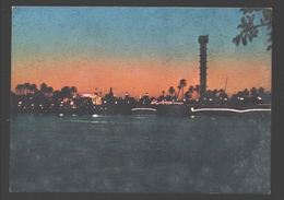 Egypt - The Nile Banks By Night - Egypte