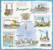 Frankreich 2011 MiNr. 5073/ 5076 Im Block 149  ** / Mnh ;  Europäische Hauptstädte: Budapest - France
