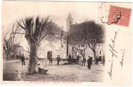 CPA VAUCLUSE.GRILLON.PLACE DE LA BOURGADE N°212 - France