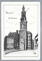 NL.- AMSTERDAM. Tekening Van De Munttoren. Ontwerp En Uitgave: Holland Distributie. - Andere